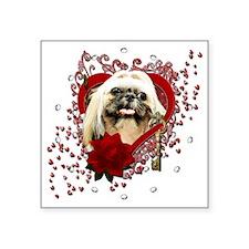 "Valentines - Key to My Hear Square Sticker 3"" x 3"""