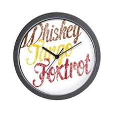 Whiskey Tango Foxtrot Vintage Wall Clock