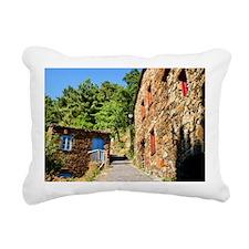 Shist village Rectangular Canvas Pillow