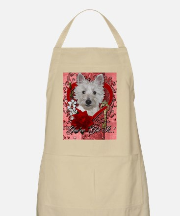 Valentines - Key to My Heart - Westie Apron