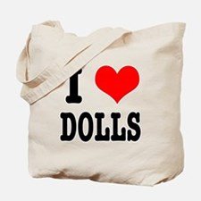I Heart (Love) Dolls Tote Bag