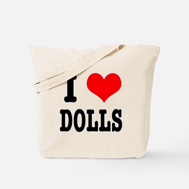 I Heart (Love) Dolls Tote Bag