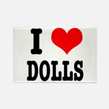 I Heart (Love) Dolls Rectangle Magnet