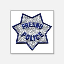 "Fresno Police patch Square Sticker 3"" x 3"""