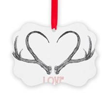 Antler Love Ornament