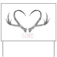 Antler Love Yard Sign
