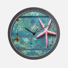 Starfish and Turquoise Wall Clock