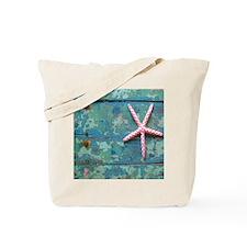 Starfish and Turquoise Tote Bag