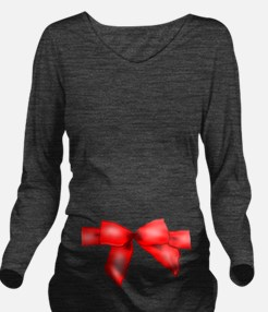 Christmas Red Ribbon in a bow Long Sleeve Maternit