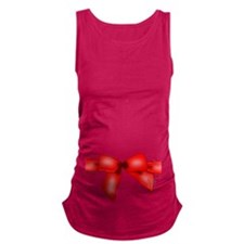 Christmas Red Ribbon in a bow Maternity Tank Top