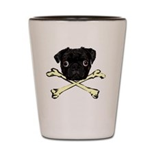 Pug and Crossbones Shot Glass