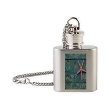 Starfish and Turquoise Flask Necklace