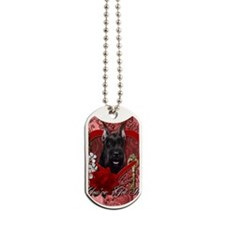 Valentine_Red_Rose_SchnauzerBlkGCU Dog Tags