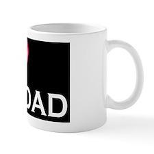 I love my DAD pink dark Mug