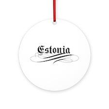Estonia Gothic Ornament (Round)