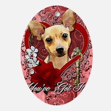 Valentines - Key to My Heart - Chihu Oval Ornament