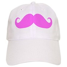 Basic Mustache - Pink Baseball Cap