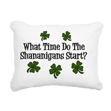 What Time Do the Shenani Rectangular Canvas Pillow