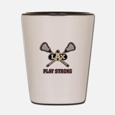 Lacrosse Play Strong Shot Glass