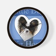Little Dog Big Heart Wall Clock