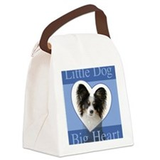 Little Dog Big Heart Canvas Lunch Bag