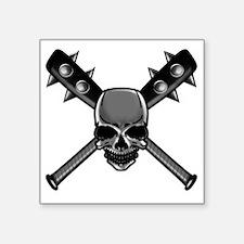 "SkullCrossbats copy Square Sticker 3"" x 3"""