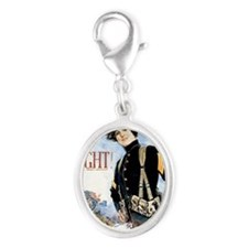 IF YOU WANT TO FIGHT JOIN THE M Silver Oval Charm
