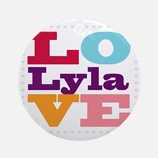 I Love Lyla Round Ornament