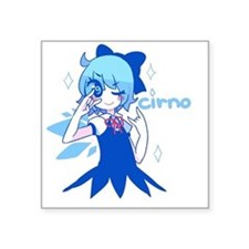 "Kira kira Cirno Square Sticker 3"" x 3"""