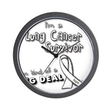 Lung Cancer Survivors ARE a big deal! Wall Clock
