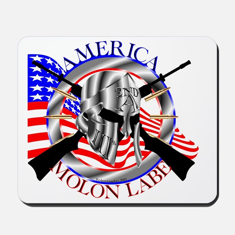 Molon Labe America 2nd Amendment Mousepad