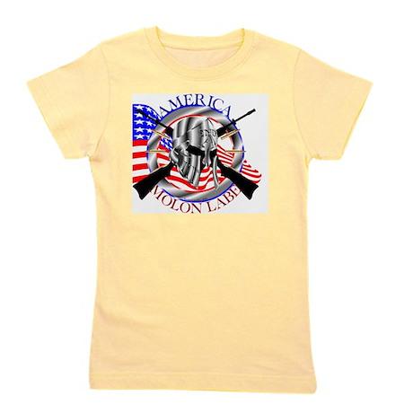 Molon Labe America 2nd Amendment Girl's Tee
