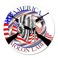 Molon Labe America 2nd Amendment Round Car Magnet
