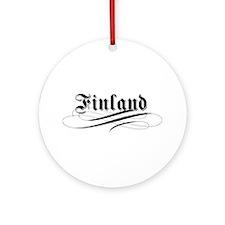 Finland Gothic Ornament (Round)