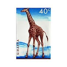 Vintage 1959 Belgian Congo Giraff Rectangle Magnet