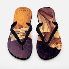 Jacques-Louis David Death Of Marat Flip Flops