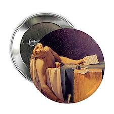 """Jacques-Louis David Death Of Marat 2.25"""" Button"""