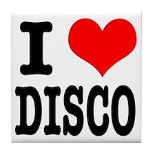 I Heart (Love) Disco Tile Coaster