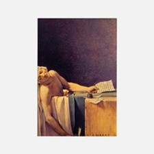 Jacques-Louis David Death Of Mara Rectangle Magnet