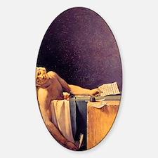 Jacques-Louis David Death Of Marat Sticker (Oval)