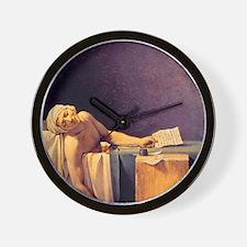 Jacques-Louis David Death Of Marat Wall Clock