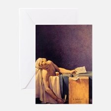 Jacques-Louis David Death Of Marat Greeting Card