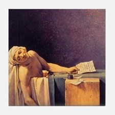 Jacques-Louis David Death Of Marat Tile Coaster