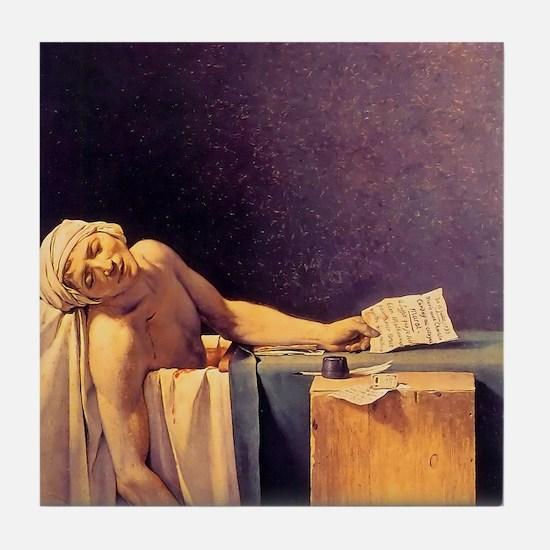 Jacques-Louis David Death Of Marat Tile Coaster