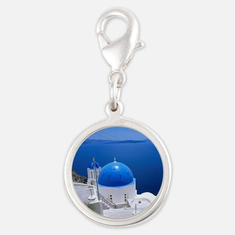 76807725 Silver Round Charm