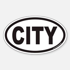 CITY Euro Oval Decal
