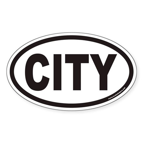 CITY Euro Oval Sticker