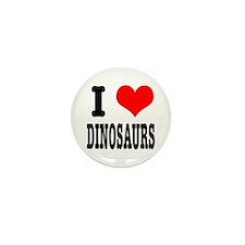 I Heart (Love) Dinosaurs Mini Button (100 pack)