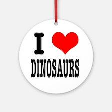 I Heart (Love) Dinosaurs Ornament (Round)