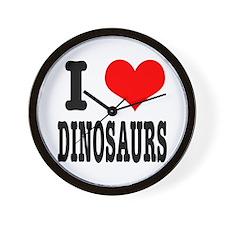 I Heart (Love) Dinosaurs Wall Clock